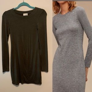 Wilfred long sleeve dress sz s olive green